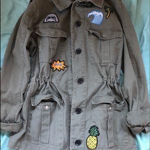 F21 Olive Green Jacket